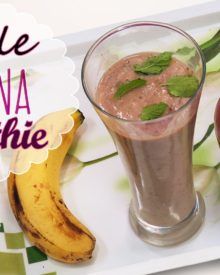 Apple Banana Smoothie – Healthy Breakfast Recipes – Post Workout Snack