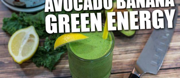 Avocado Banana GREEN ENERGY Smoothie Recipe