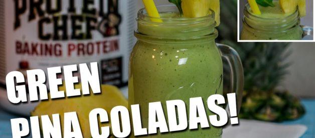 Healthier GREEN Pina Colada Smoothies