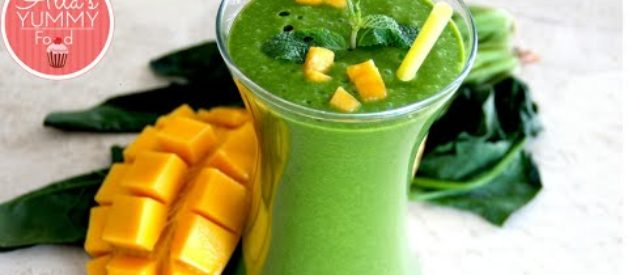 Healthy Breakfast: DAY 4: Mango, Banana & Spinach  Smoothie – Losing Weight
