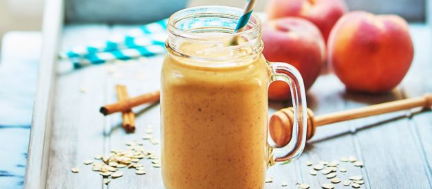 Healthy Peach Cobbler Smoothie Recipe – Show Me the Yummy – Episode 26