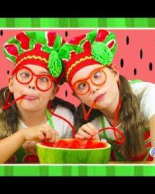WATERMELON POOL SLUSHIE – Healthy kids frozen smoothie recipe – Crafty Kingdom BTS ep 4